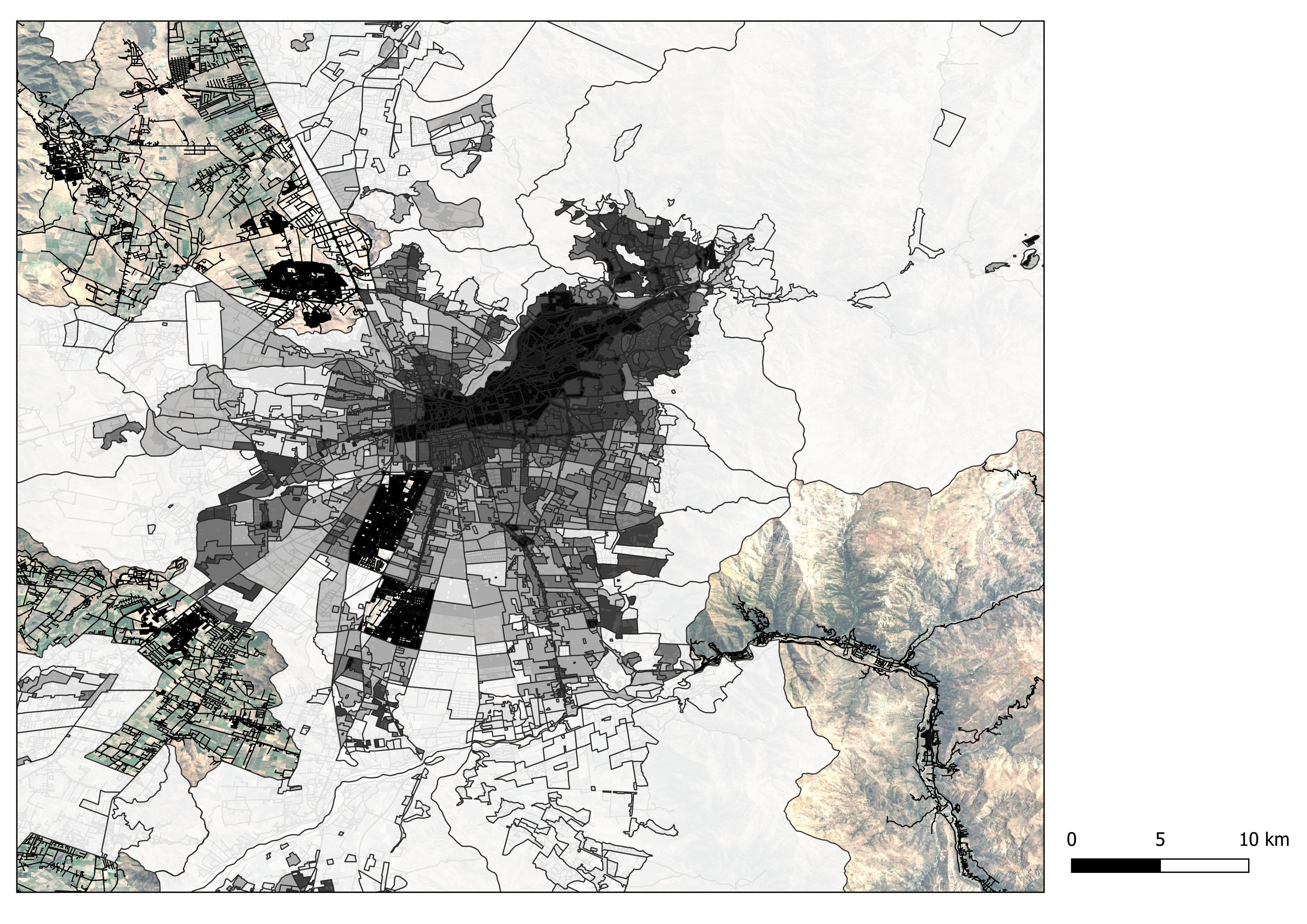 UF/m2 según área homogénea del SII en la Región Metropolitana.